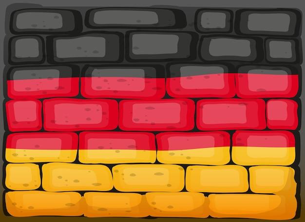 Bandiera della germania su un muro di mattoni