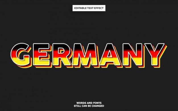 Germany flag color font effect