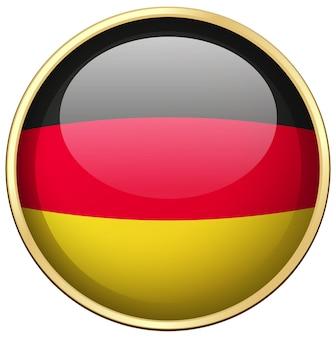 둥근 배지에 독일 국기