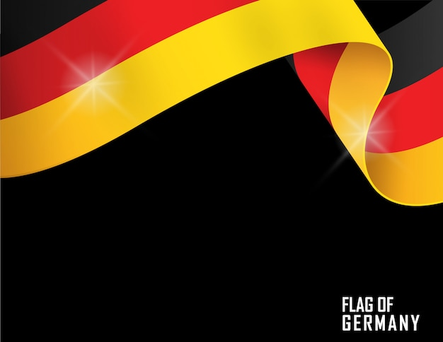 Germany flag ribbon shape