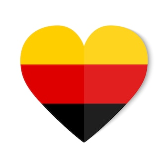 Germany flag with origami style on heart