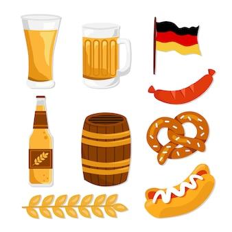 Germany food and drinks, oktoberfest set