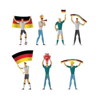 Germany football fans cheerful soccer