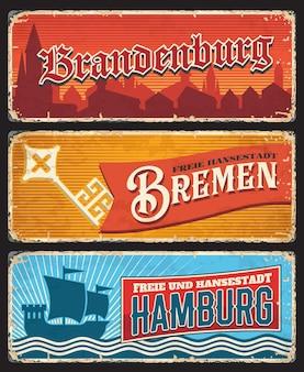 독일 함부르크, 브레멘, 브란덴부르크 주석 표시