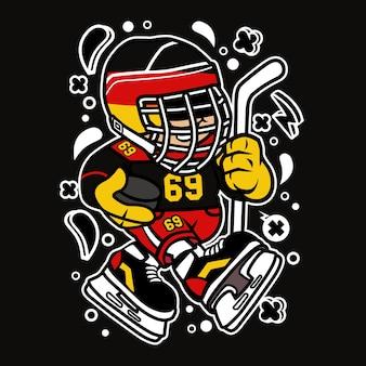 Germany hockey kid cartoon