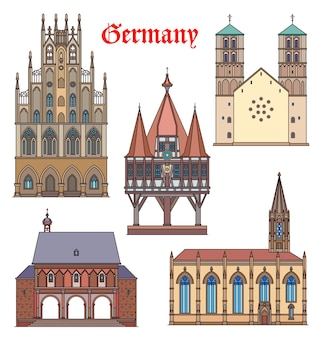 Достопримечательности германии здания, соборы, немецкие путешествия знаменитая архитектура