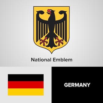 Germany national emblem and flag
