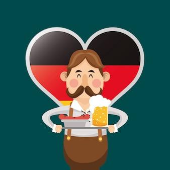 Germany oktoberfest beer icons image