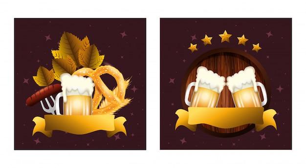 Germany oktoberfest beer vector design