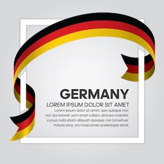 Germany ribbon flag, vector illustration on a white background