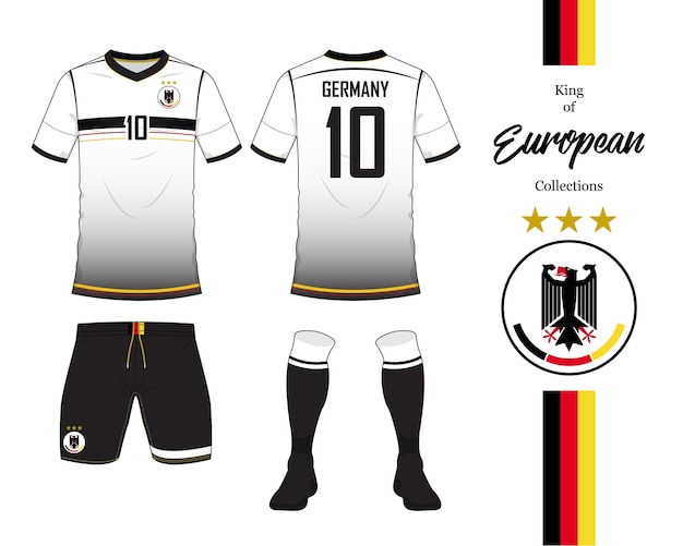 Germany soccer jersey or football kit template