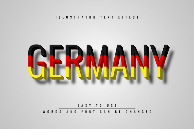 Germany text effect