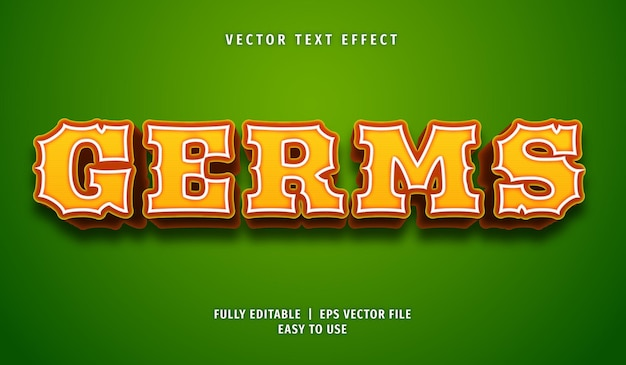 Germs text effect, editable text style