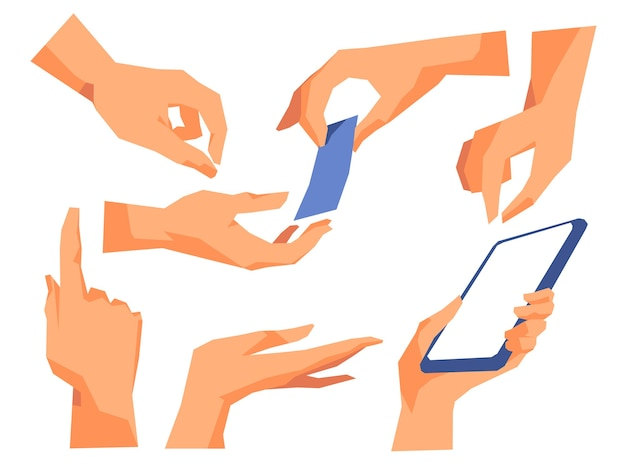 ジェスチャーと手の位置