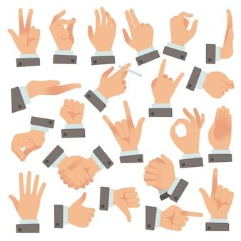 Gestures of businessman