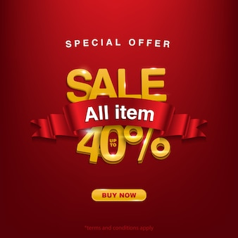 Get discount, special offer sale all item up to 40%