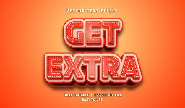 Get extra text effect, editable text style