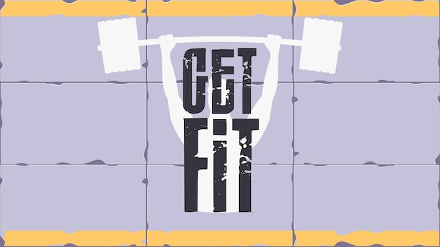 Get fit banner. sports poster. good for banners, prints, gyms or sports articles
