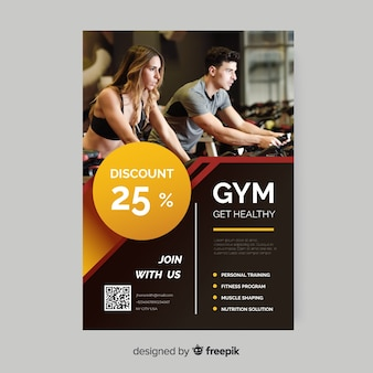Get healthy sport flyer with photo