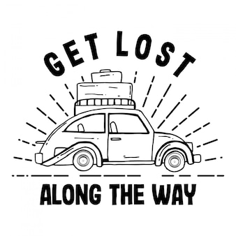 Get lost along the way typography design