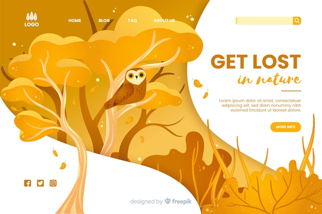 Get lost in nature web template
