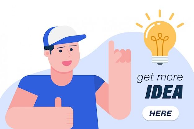 Get more ideas banner
