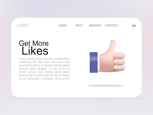 Get more likes landing page