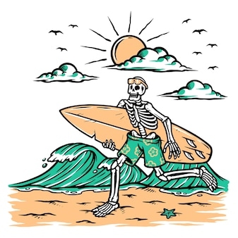 Get ready to surf illustration