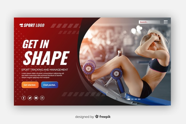 Get in shape sport landing page