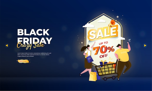 Get shopping discounts on black friday sale event