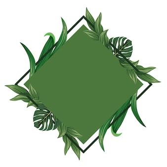 Вдохновитесь тропическим зеленым тематическим фоном рамки для вашего впечатления типографика и цитаты более привлекательными.
