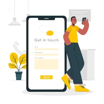 Get in touch concept illustration