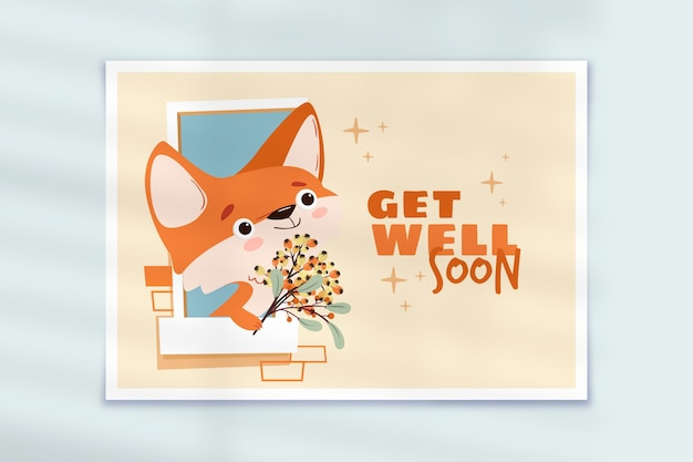 Get well soon card template