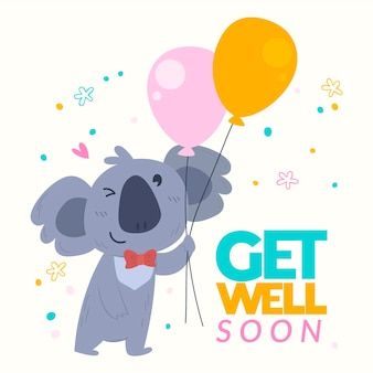 Get well soon concept