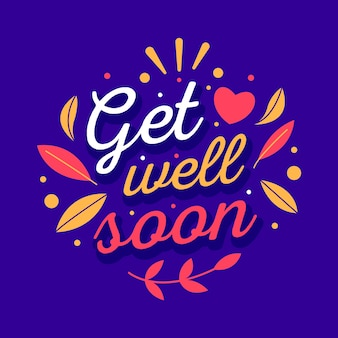 Get well soon inspirational lettering
