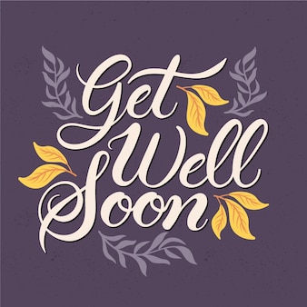 Get well soon lettering concept