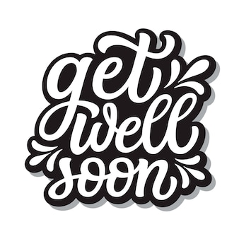 Get well soon lettering lettering