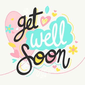 Get well soon lettering style