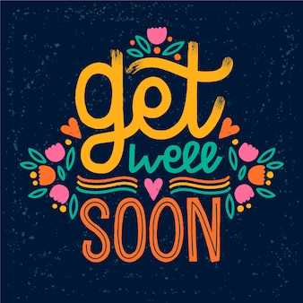 Get well soon lettering theme