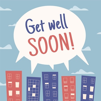 Get well soon lettering urban design