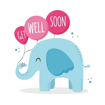 Get well soon positive lettering