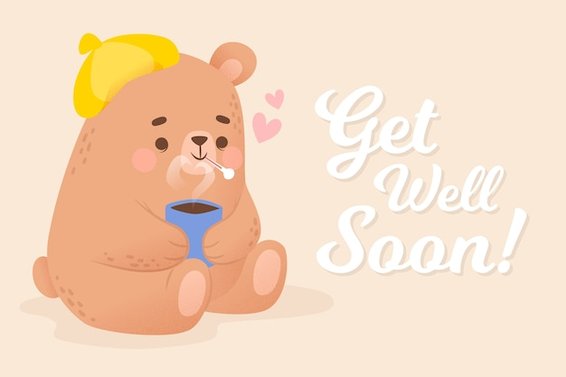 Get well soon with bear