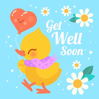 Get well soon with character design