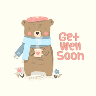 Get well soon with a character