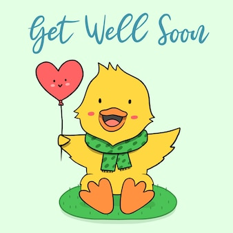 Get well soon with duck