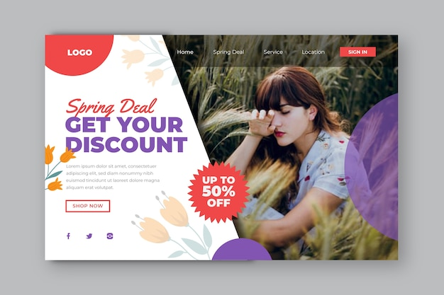 Get your discount landing page