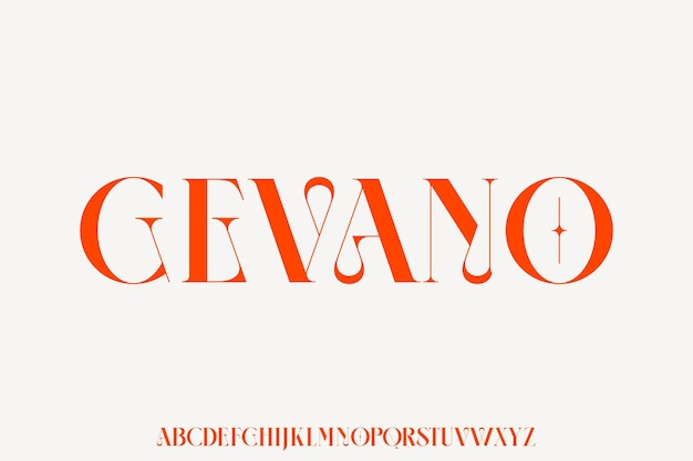 Gevano the luxury and elegant font glamour style