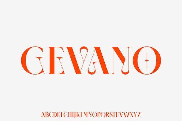 Gevano - роскошный и элегантный шрифт в гламурном стиле