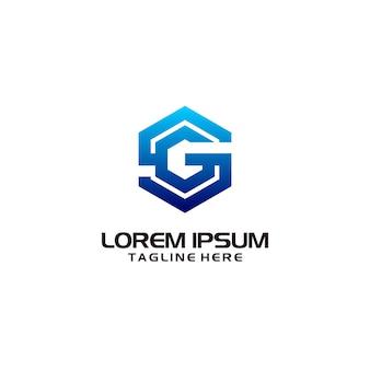 Gg logo design template