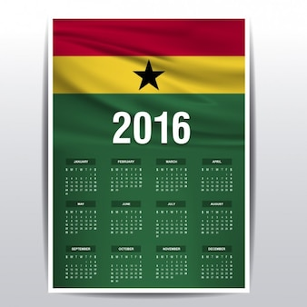 Ghana calendar of 2016
